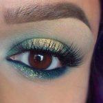 مدل آرایش چشم با تم های پاییزی